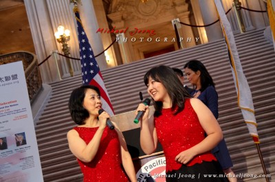 National Anthem sung by mother and daughter, Melody Wang & Remona Ji
