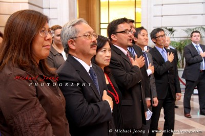 Mayor Ed Lee and elected officials