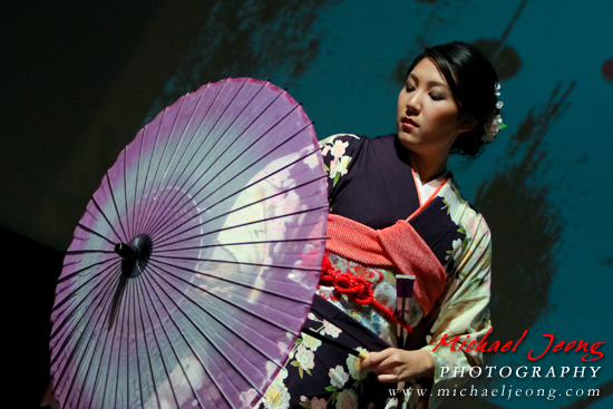 Tiffany Sieu Okimura performs an Odori dance.