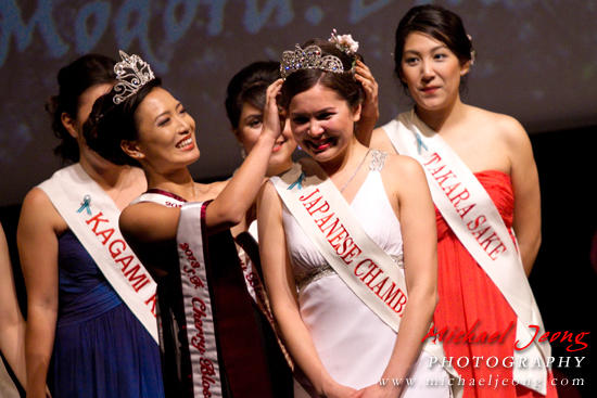 Jamie Sachiko Martyn is crowned the Cherry Blossom First Princess.