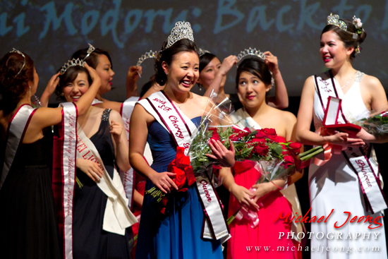 Kelly Yuka Walton is crowned as the 2013 Cherry Blossom Queen.