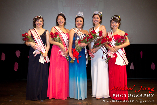 Cherry Blossom Queen 2013, Kelly Yuka Walton and her court.