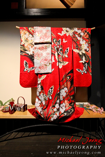 The 2013 Cherry Blossom Queen's Kimono created by Fujiyasu Kimono Company.