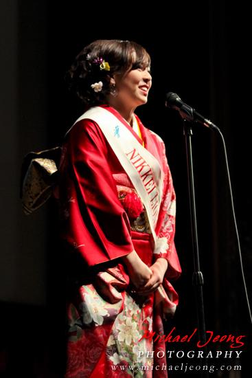 Kimberly Miya Sasaki gives her individual speech.