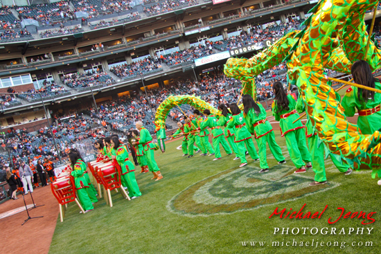 CYC members perform on the field for Chinese Heritage Night 2013.