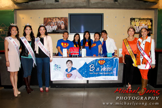 The SF Hep B Free table with brand ambassadors and local pageant title holders.
