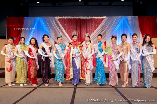 Miss Chinatown USA with the other delegates.