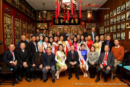 Miss Chinatown and the delegates at an association visit.